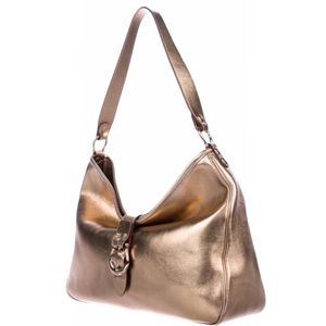 Kate Spade Metallic Leather Hobo Bag